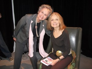 image of Caroline Miller and Gloria Steinem